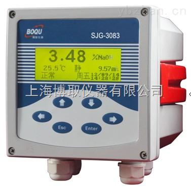 供应中文液晶型SJG-3083工业酸碱浓度计