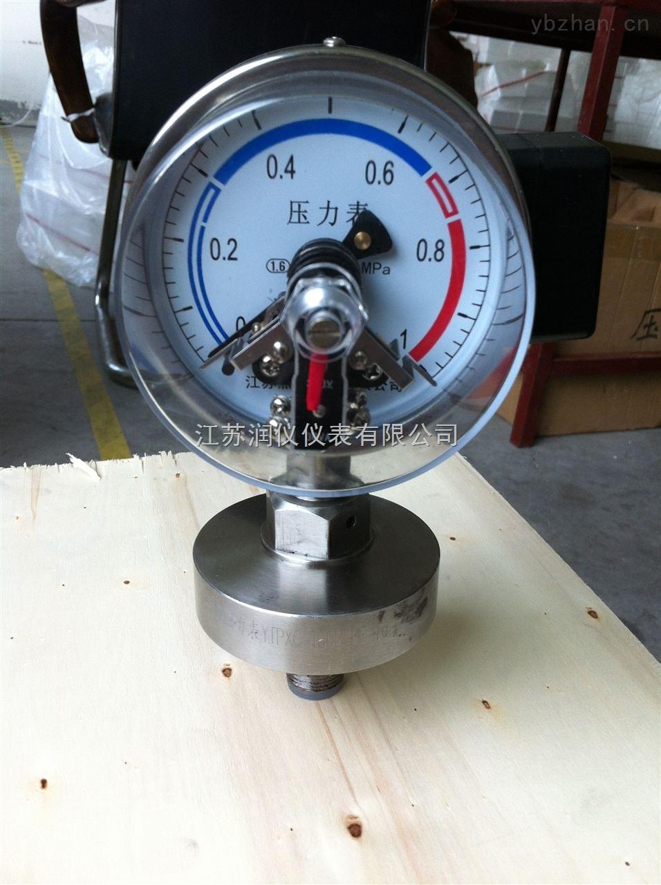 YNXP-100-電接點隔膜式耐震壓力表