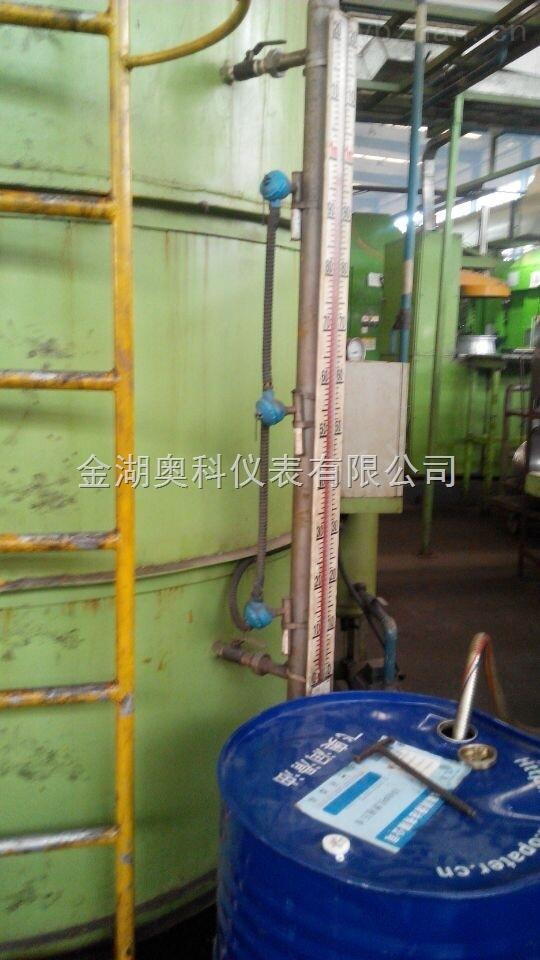 一,玉米油液位计产品概述及衬里选择区别: (玉米油液位计)的zui显著特点是液体介质与指示器完全隔离,所以在任何情况下都非常安全、可靠、耐用、而且各种型号的液位计配上液位报警、控制开关,可实现液位或界位的上、下限越位报警、控制或联锁,配上静压式液位变送器或干簧-电阻式液位变送器,可将液位、界位信号转换成二线制4-20mADC标准信号,实现远距离指示、检测、记录与控制。适用于腐蚀性介质且工作温度又较高场合的液位测量,结构可靠,使用寿命长。是硝酸等强腐蚀性介质液位测量的优良选择。为客户量身定制,对温度和压力
