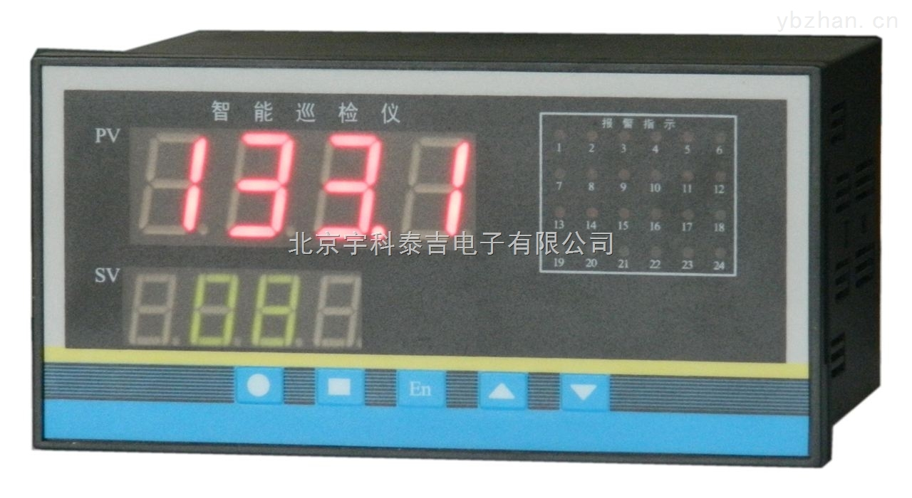 液晶同时显示八路交流电流的仪表,继电器报警输出变送输出RS485输出