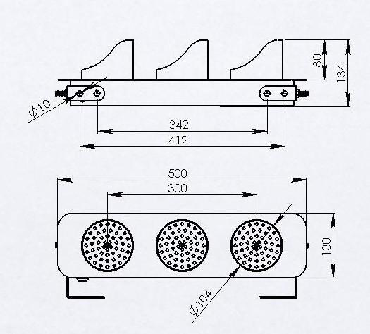 15w 工作温度:-40-70摄氏度 龙门吊电源指示灯型号:ab-hcx 灯盘