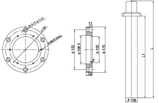 加热芯子采用三支电热管为一个加热体