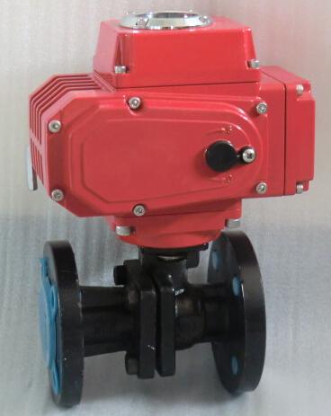 阀门仪表 球阀 上海经瑞流体控制有限公司 电动调节球阀 电动法兰球阀图片
